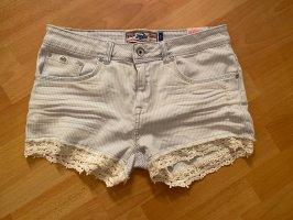 Superdry Denim Shorts white-light blue