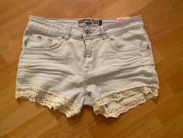 Superdry Short en jean blanc-bleu clair