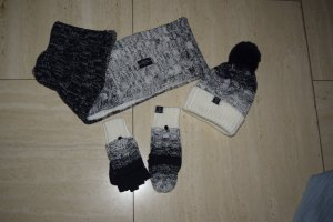 Superdry Mittens natural white-dark blue