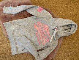 Superdry Capuchon sweater lichtgrijs-roze
