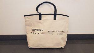 Superdry Shopper noir-blanc cassé
