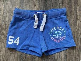 SUPERDRY Shorts S 36 XS 34 blau HotPants