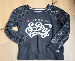 Superdry Sweatshirt mit Pallietten - Gr. M