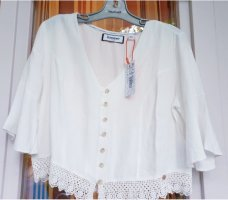 Superdry Blusa in merletto bianco Poliestere