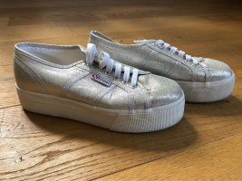 Superga Heel Sneakers silver-colored