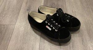 Superga Samt-Schuhe mit Plateau