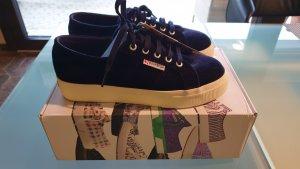 SUPERGA Samtsneaker marine