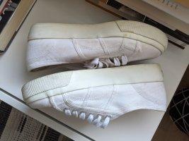 superga Sneaker 39 weiß mit Plateau