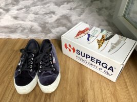 Superga Sneakers met hak antraciet-wit