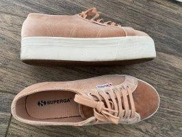 SUPERGA Sneakers 39 Samt rose rosa Plateau SUPERGA