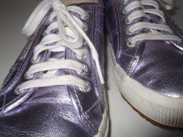 *SUPERGA* Trendy Designer Sneakers, violett lila glänzend, metallic, 42, NEUw.
