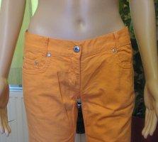 Low Rise Jeans light orange-orange cotton
