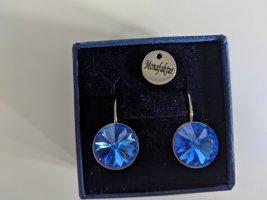 Superschöne Ohrringe mit Swarovskikristall in blau
