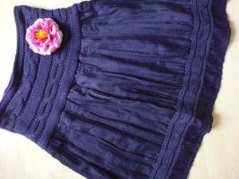 Promod Gonna lavorata a maglia viola Tessuto misto