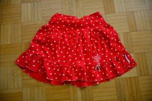 Blutsschwester Mini rok rood-wit Katoen