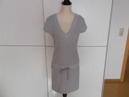 Tally Weijl Vestido de tela de sudadera gris claro Algodón