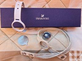Swarovski Montre avec bracelet en cuir blanc