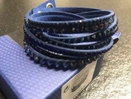 Swarovski Pulsera azul oscuro