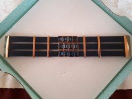 Swarovski Armband Montana blue Leder Gr. M petrol rosegold