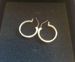 Ohrringe mit Swarovski Steinen Orecchino a cerchio grigio chiaro Metallo