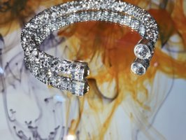 Swarovski Bracelet en argent argenté-gris