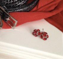 Ohrringe mit Swarovski Steinen Dangle dark red