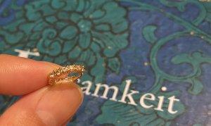 Kolczyk ze sztyftem w kolorze różowego złota