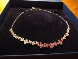 swarovski Kette/ Collier rosa Weiß