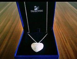 Swarovski Kette mit Herz Medaillon Silber
