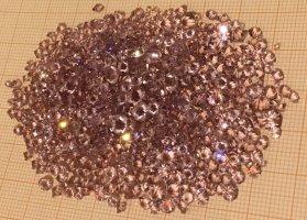 Swarovski Button grey lilac-mauve glas
