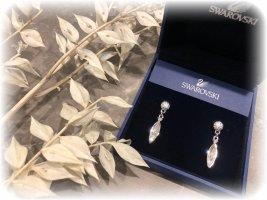 Swarovski Ohrringe, Stecker, Tropfen, Tropfenform, funkeln so schön, Silber.