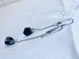 Swarovski Orecchino a pendente argento-nero