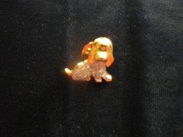 Swarovski Pin in Form eines Hundes, ungetragen