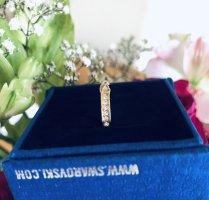 Swarovski Złoty pierścionek piaskowy brąz