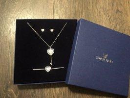 Swarovski Jewellery Set silver-colored-light pink