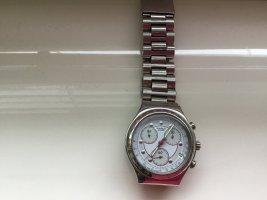 Swatch Uhr silber mit Metall Armband