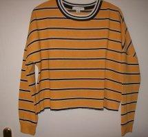 Sweatshirt  gelb-scharz-weiß-gestreift von Primark
