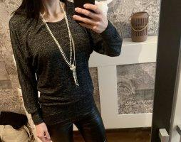Blind Date Sweatshirt zwart-grijs Viscose