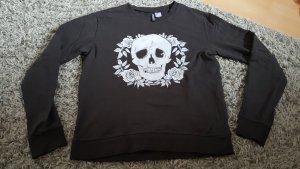 Sweatshirt mit Totenkopfprint