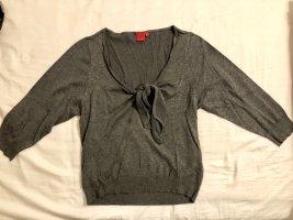 Sweatshirt Pullover T-Shirt mit Bindung am Ausschnitt