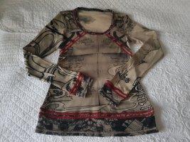 Beate Heymann Sweatshirt grijs-bruin-donkerrood