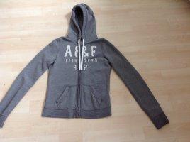 Abercrombie & Fitch Sweat Jacket grey cotton