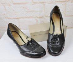 Sweet Pumps Leder Schuhe Clarks Größe 7,5 41 Schwarz Troddel Bombay Echtleder