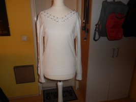 T.K. Classic Collection - weißer Pullover mit Details Gr. S