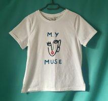 Anthropologie T-shirt wit Katoen
