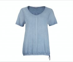 T-Shirt Blusenshirt Blau Bio Baumwolle Gr. M