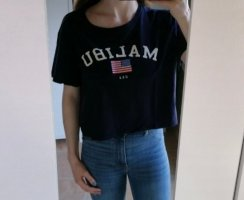 H&M Divided Cropped Shirt blue