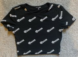 Fashion Nova Camicia cropped nero-bianco