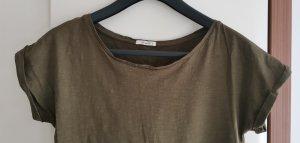 Lee T-shirt zielono-szary-oliwkowy Bawełna