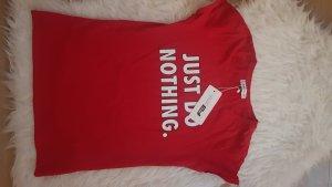 Amisu T-shirt rouge-rouge foncé